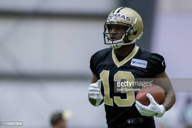 New Orleans Saints wide receiver Michael Thomas works out on June 11 2019 at the New Orleans Saints Training Facility in Metairie LA