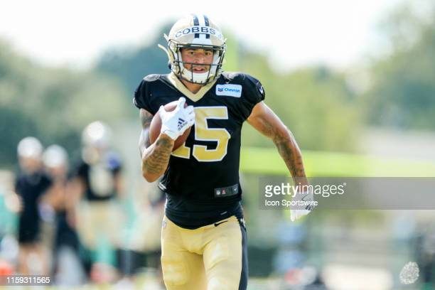 New Orleans Saints wide receiver Simmie Cobbs during training camp on August 3 2019 at the Ochsner Sports Performance Center in Metairie LA