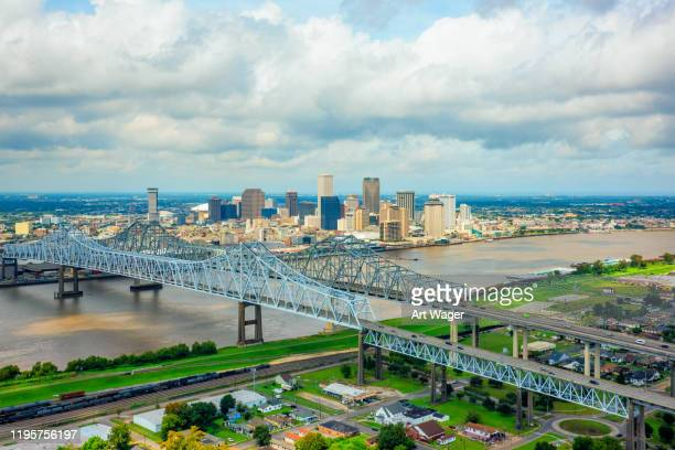 new orleans skyline from above - new orleans stock pictures, royalty-free photos & images