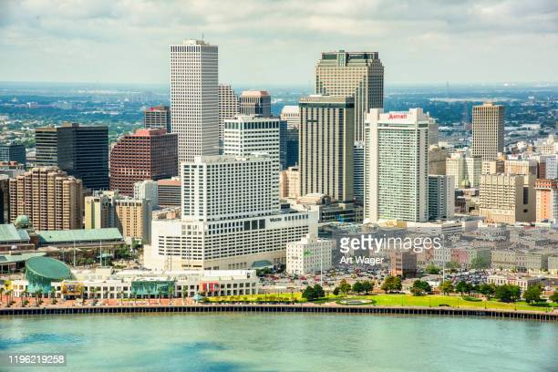 new orleans skyline - la waterfront stock pictures, royalty-free photos & images