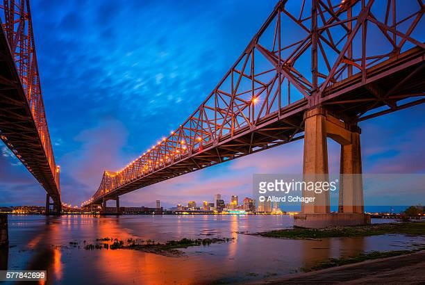 new orleans la skyline - new orleans stock photos and pictures