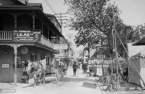 New Orleans street scene ca 1900