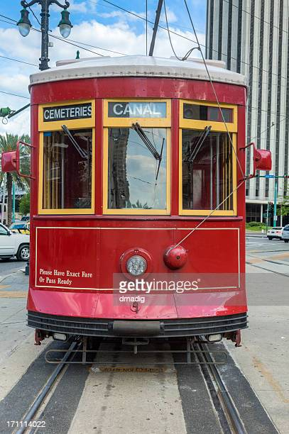 New Orleans Streetcar Heading Straight at You