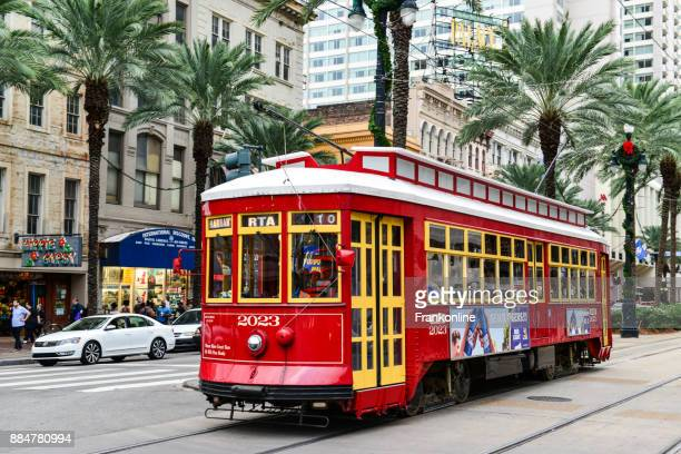 new orleans streetcar, louisiana, usa - new orleans stock pictures, royalty-free photos & images