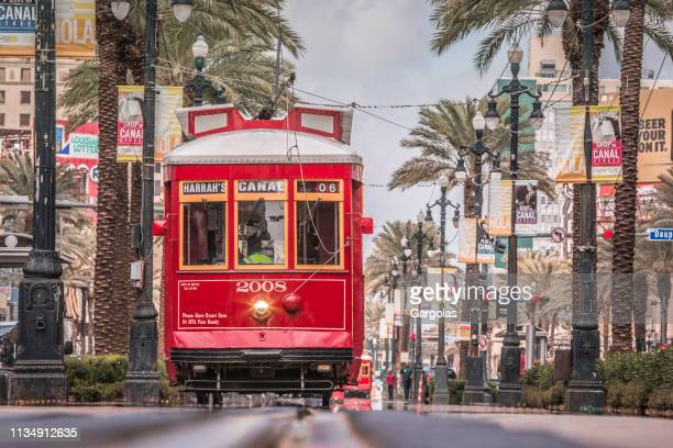 new orleans streetcar, usa - new orleans stock pictures, royalty-free photos & images