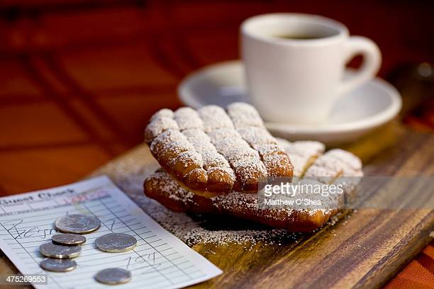 New Orleans style beignets with chicory coffee