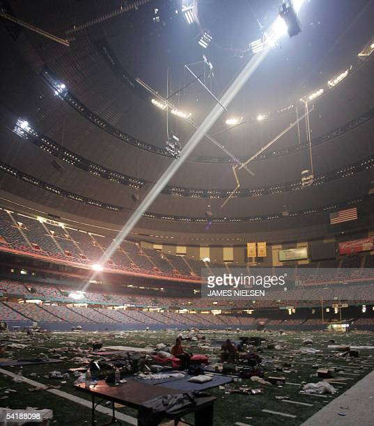 The last of the Hurricane Katrina survivors who used the Superdome in New Orleans as shelter wait 02 September 2005 The New Orleans sports arena that...