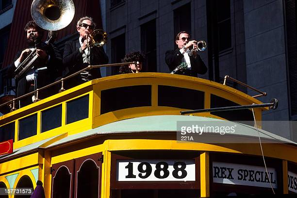 new orleans, usa: mardi gras 1988 - 1988 stock photos and pictures