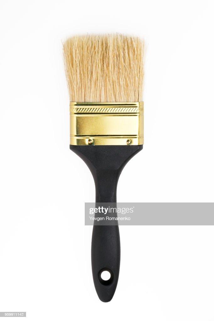 New paintbrush isolated on white background : Stock-Foto