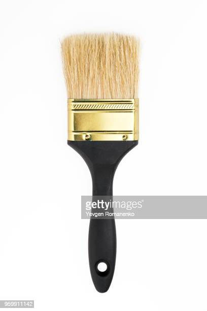 new paintbrush isolated on white background - paintbrush stock pictures, royalty-free photos & images