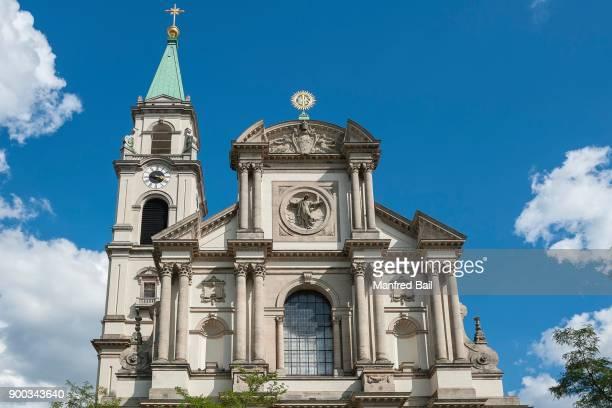 new parish church st. margaret, margaretenkirche, sendling, munich, bavaria, germany - munich stock pictures, royalty-free photos & images