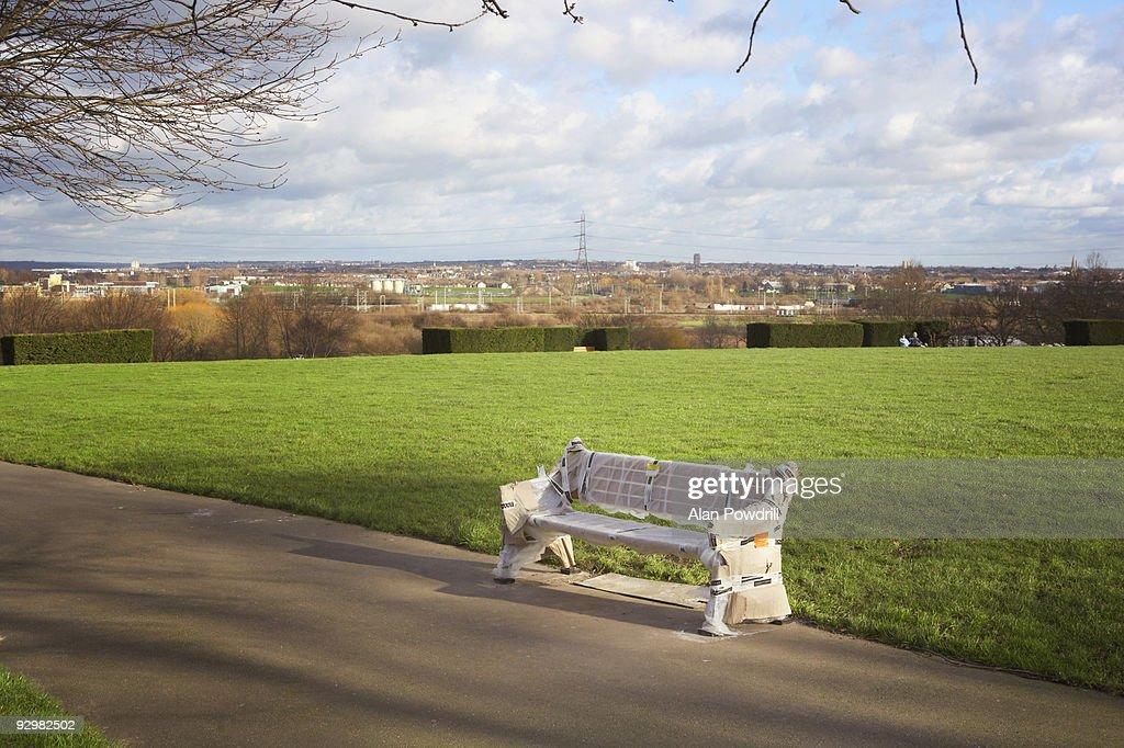 New Park bench : Stock Photo