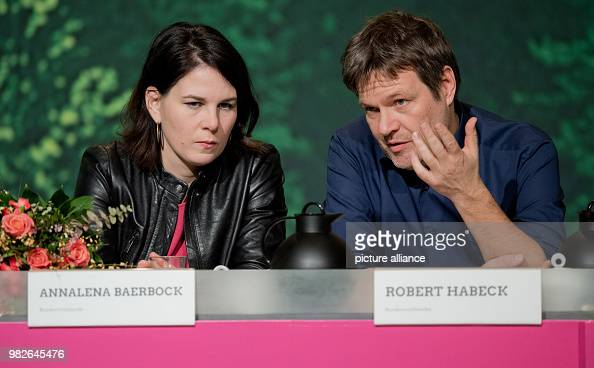 New party leaders Robert Habeck and Annalena Baerbock ...