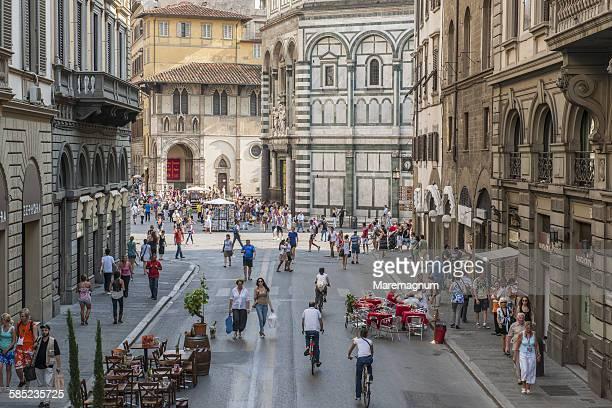 New pedestrian area near Piazza (square) del Duomo