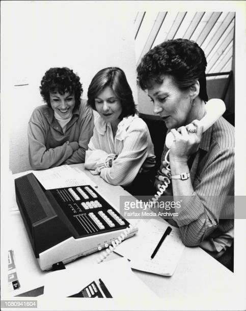 New Penrith Leagues ClubCathy Cronan of NEC switch boards watches as straw members left Verena Johnson and Kay Hensby use the New Switchboard April...