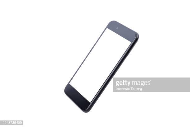 new phone front isolated on white background - phone icon stock pictures, royalty-free photos & images