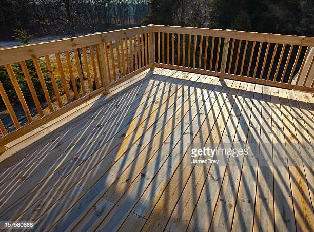 Nova Pinho tábuas de madeira, Deck Edifício parapeito da varanda, Sombra