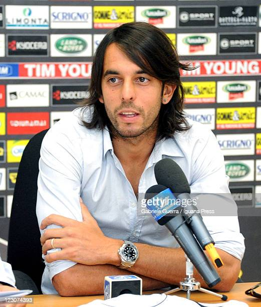 New player Jorge Martinez is unveiled by AC Cesena during a press conference at Villa Silvia on August 30, 2011 in Cesena, Italy.