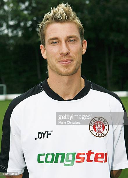 New player Marvin Braun of St. Pauli before a training session at the Kollaustrasse on June 28, 2006 in Hamburg.