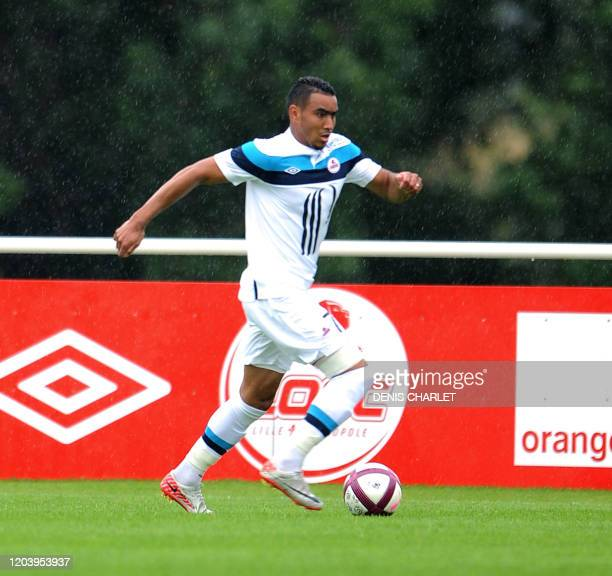 New player of the LOSC football club Lille's French forward Dimitri Payet is seen during a training session of the season on july 16, 2011 in...