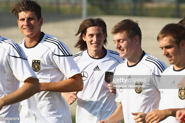 New player Sebastian Rudy of Germany attends a training session on June 5 2011 in Vienna Austria