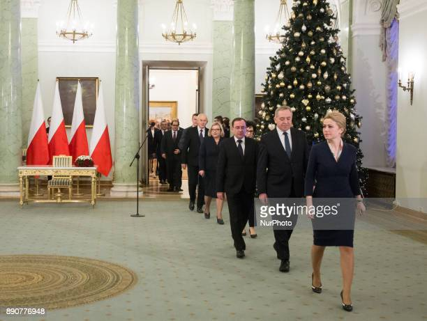 New Polish Government appointment ceremony in Presidential Palace in Warsaw Poland on 11 December 2017
