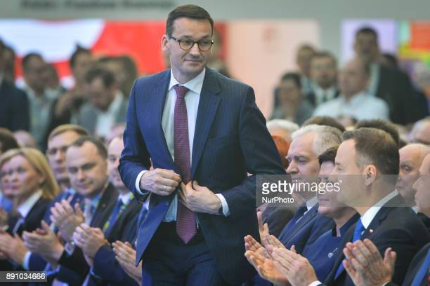 A new Polish Prime Minister Mateusz Morawiecki pictured during an economical Congress in Rzeszow Southern Poland On Tuesday 12 December 2017 in...