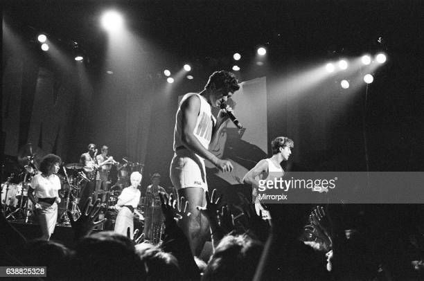 New pop sensation Wham pictured in concert in Aberdeen Scotland This was their first live appearance and was part of their Club Fantastic Tour 9th...