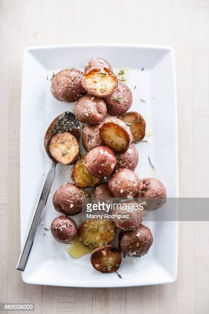 New potatoes with rosemary and sea salt