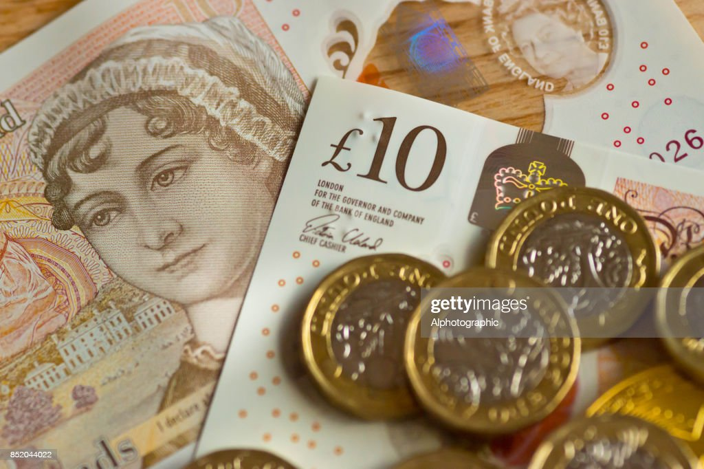 New pound coin released 2017 : Stock Photo