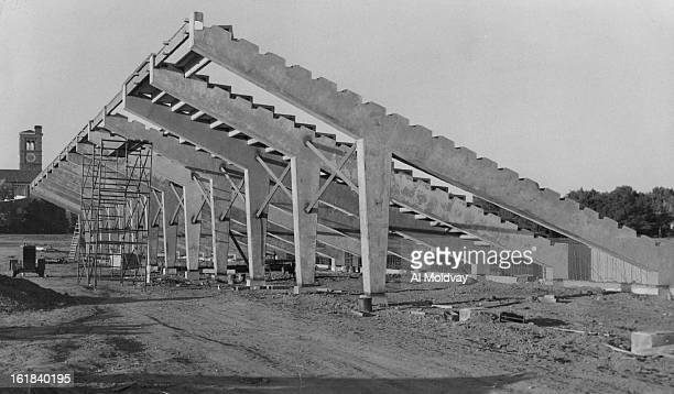 SEP 27 1957 OCT 2 1957 New Prep Stadium The 8400seat football stadium at South High School is about half complete and is scheduled to be in use by...