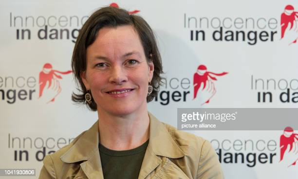 New President Marina von Achten attends a press conference of the NGO 'Innocence in Danger' in Heidelberg Germany 28 February 2013 Reports state that...