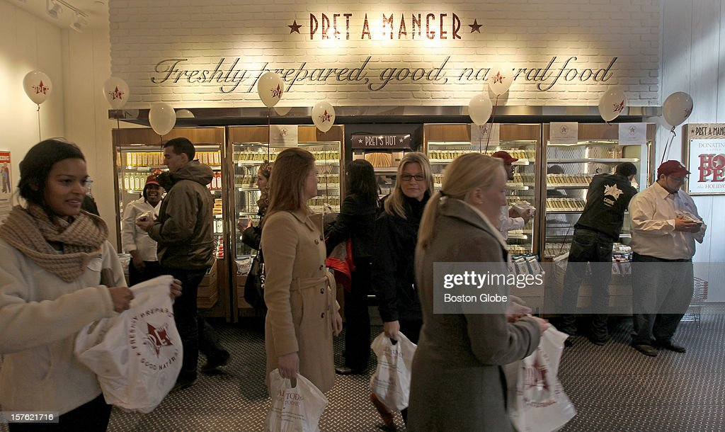 Pret A Manger Opening On Boylston Street : News Photo