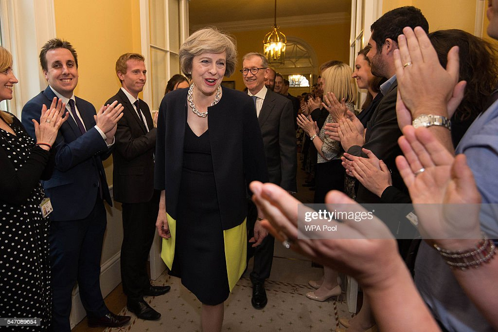 Theresa May Succeeds David Cameron As The UK's New Prime Minister : News Photo