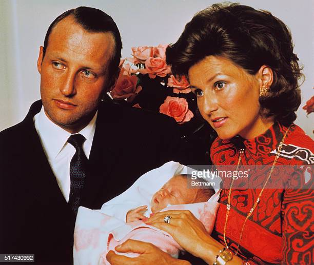 New Princess Makes Debut. Oslo, Norway: Crown Prince Harald of Norway and his wife, Crown Princess Sonja, hold their newborn daughter Princess Martha...