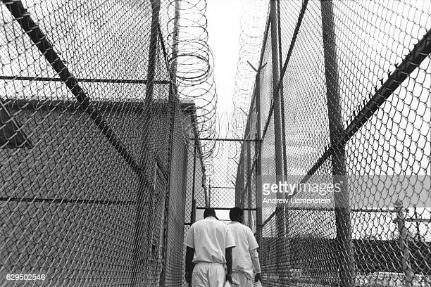 New prisoners enter the Texas prison system at the Byrd Unit in Huntsville Texas on May 1 1999 There they undergo a crucial classification meeting...
