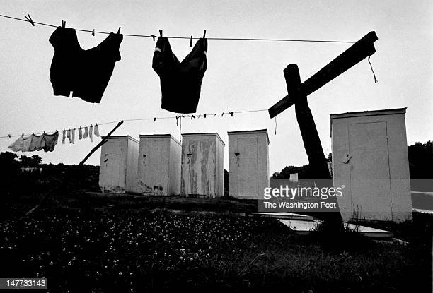 FILE New privies wait for pits to be dug so they can be installed in Bayview Virginia on August 1 1998 Almost all of the older unsanitary outhouses...