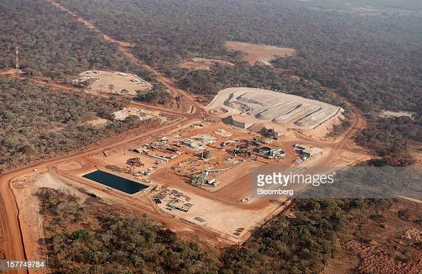 A new processing plant is seen at Comide SPRL's Mashitu copper mine operated by Eurasian Natural Resources Corp in this aerial view in Katanga...