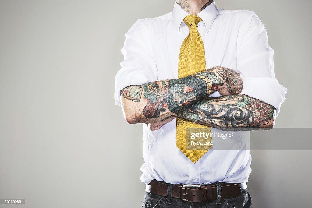 Neue professionelle mit Tätowierungen : Stock-Foto