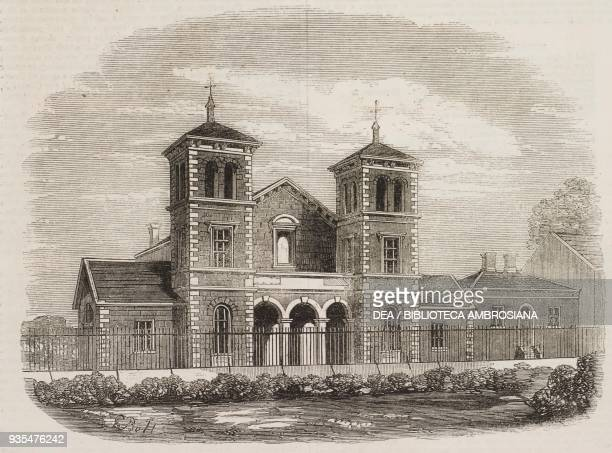 New protestant hall and Sundayschool institute at Waterford Ireland illustration from the magazine The Illustrated London News volume XL April 5 1862