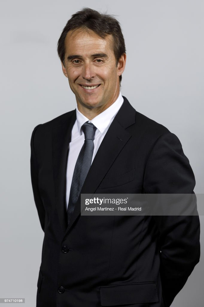 New Real Madrid head coach Julen Lopetegui poses for a portrait after his presentation at Santiago Bernabeu stadium on June 14, 2018 in Madrid, Spain.