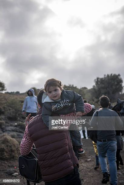 New refugee arrival on Lesbos, Greece