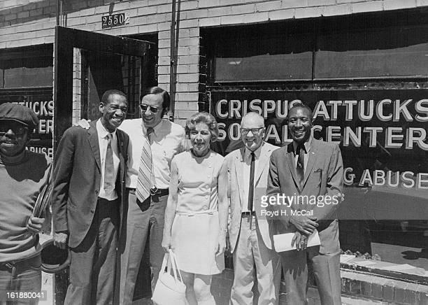 JUL 3 1970 JUL 4 1970 New Rehabilitation Center Opens For Alcoholics Drug Abusers From left are Wade Bell director of the Crispus Attucks Social...