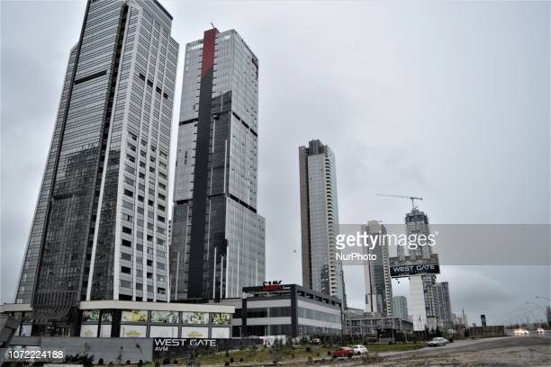 New residential apartments and office towers are seen in the upperclass neighborhood of Cayyolu some 25 kilometers outside the city center of Ankara...