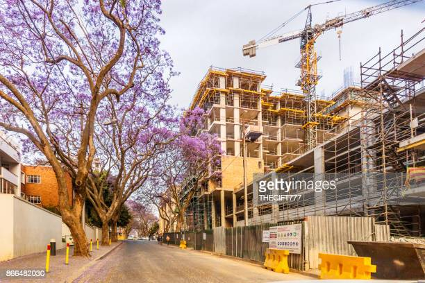 new residential building in rosebank, johannesburg - real estate developer stock pictures, royalty-free photos & images