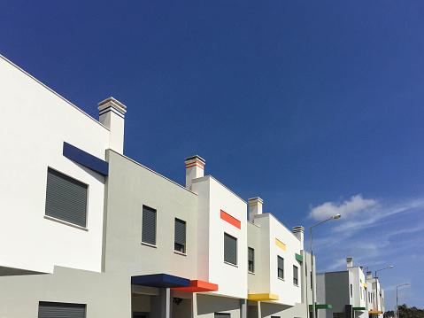 New residential Buildings, modern detached houses in Europe - gettyimageskorea