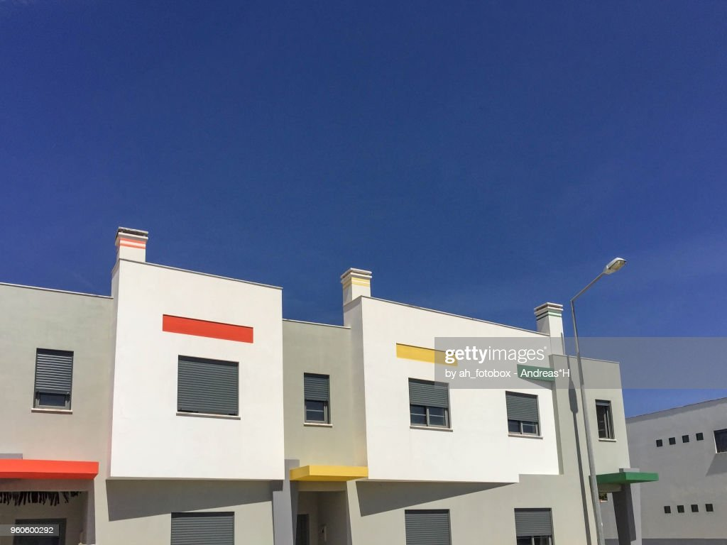 New Residential Buildings Modern Detached Houses In Europe Stock ...