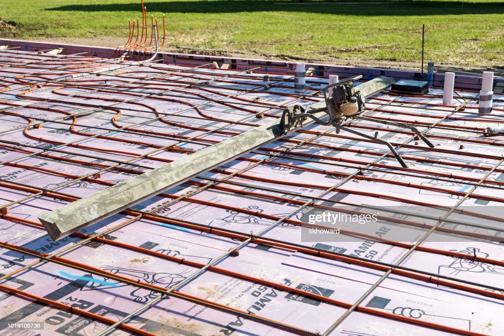 New Residential Concrete Slab With