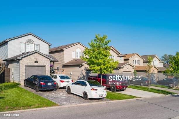 new residential district in london ontario canada - london ontario stock photos and pictures