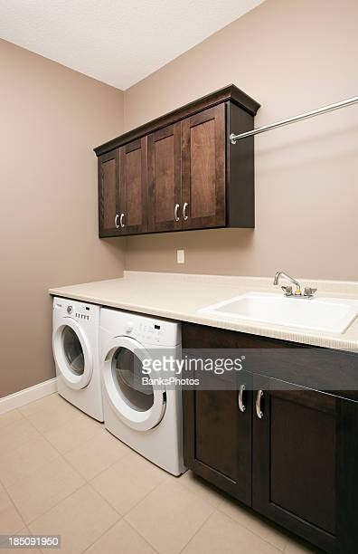 New Residential Frontload Washer and Dryer in Laundry Room